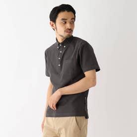ベース コントロール 吸水速乾 カノコ ボタンダウンポロシャツ (ダークグレー)