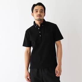ベース コントロール 吸水速乾 カノコ ボタンダウンポロシャツ (ブラック)