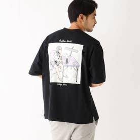 イラストレーター Mar 限定 バックプリント半袖Tシャツ (ブラック)