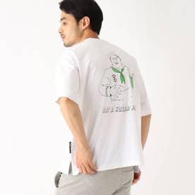 イラストレーター トチハラユミ 限定 バックプリント半袖Tシャツ (アイボリー)