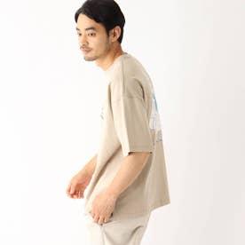 イラストレーター トチハラユミ 限定 バックプリント半袖Tシャツ (ベージュ)