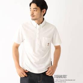 ベース コントロール PEANUTS/ピーナッツ ウッドストック刺繍 カノコボタンダウンポロシャツ (アイボリー)