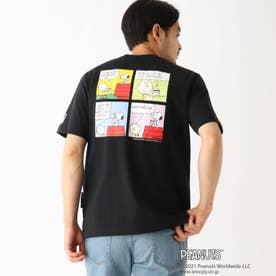 PEANUTS/ピーナッツ アウトドアグラフィックバリエーション 半袖Tシャツ (ブラック)