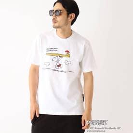 PEANUTS/ピーナッツ アウトドアグラフィックバリエーション 半袖Tシャツ (アイボリー)