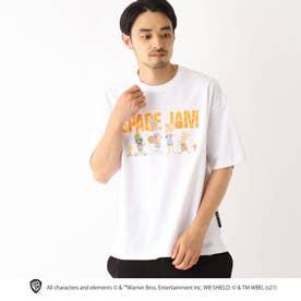 スペースジャム/ 新作映画グラフィック 別注コットン半袖Tシャツ (アイボリー)