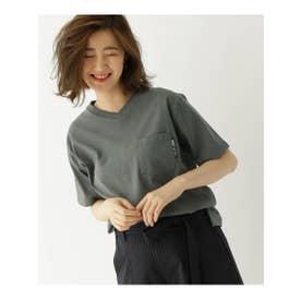 ヘビーウェイト Tシャツ Vネック WEB限定 半袖 (チャコールグレー)