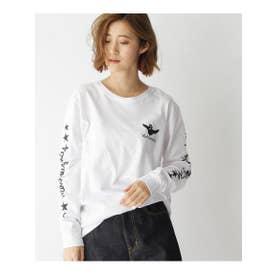 MARK GONZALES/マークゴンザレス別注 ロゴ長袖Tシャツ (ホワイト(004))