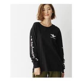 MARK GONZALES/マークゴンザレス別注 ロゴ長袖Tシャツ (ブラック(019))