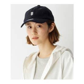 【ユニセックス】B刺繍 フェルトローキャップ33024 (ネイビー(093))
