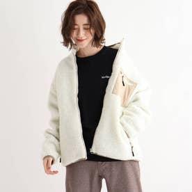 SK ボア スタンドジャケット ブルゾン (アイボリー)