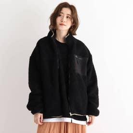 SK ボア スタンドジャケット ブルゾン (ブラック)