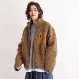 SK ボア スタンドジャケット ブルゾン (キャメル)