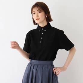 吸水速乾 カノコ ボタンダウンポロシャツ (ブラック)