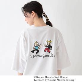 OSAMU GOODS/オサムグッズ コラボ ビッグシルエット プリントTシャツ (アイボリー)