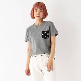 ベース コントロール 【WEB限定】ボーダー スター 異素材ポケットTシャツ (グレー×スター)