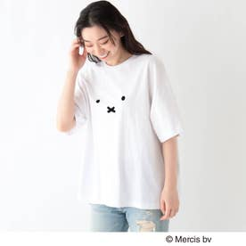 miffy ミッフィー / フロントプリント コットン半袖Tシャツ (アイボリー)