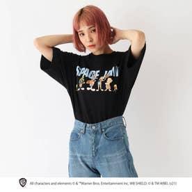 スペースジャム/ 新作映画グラフィック 別注コットン半袖Tシャツ (ブラック)