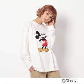 ベース コントロール DISNEY ディズニー/mobus ミッキーマウス 長袖Tシャツ (アイボリー)