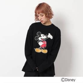 ベース コントロール DISNEY ディズニー/mobus ミッキーマウス 長袖Tシャツ (ブラック)
