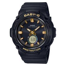 【BABY-G】Starlit Bezel Series(スターリットベゼルシリーズ) / 電波ソーラー / BGA-2700SD-5AJF / ベビーG (ブラック×ゴールド)