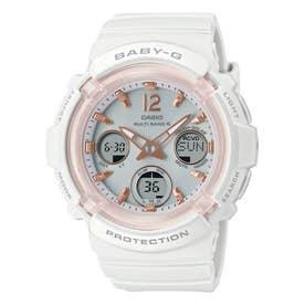 【BABY-G】電波ソーラー / BGA-2800-7AJF (ホワイト×ピンク)