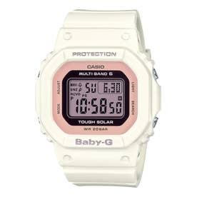【BABY-G】電波ソーラー / BGD-5000U-7DJF (ホワイト×ピンク)