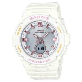 【BABY-G】Ice Cream Colors / 電波ソーラー / BGA-2700CR-5AJF / ベビーG (ホワイト×ピンク)