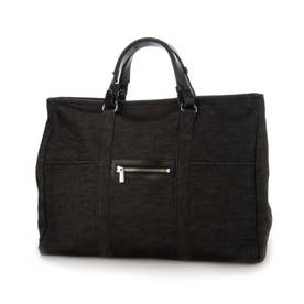 日本製 大容量本革ハンドルトートバッグ (ブラック)