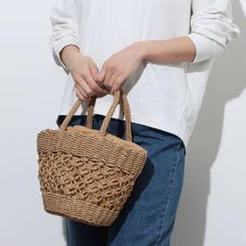 手編み巾着かごバッグカゴバッグ (CM)