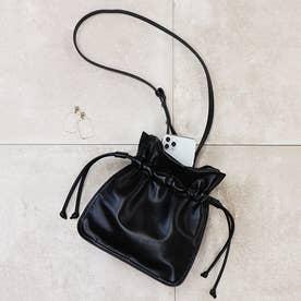 巾着型ショルダーバッグ (ブラック)