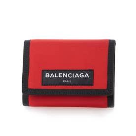 【BALENCIAGA(バレンシアガ)】三つ折り財布 (レッド)