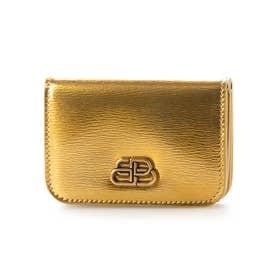 【BALENCIAGA(バレンシアガ)】三つ折り 折り財布 (ゴールド)