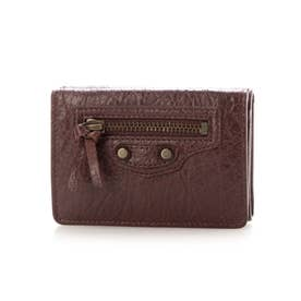 【BALENCIAGA(バレンシアガ)】 三つ折り財布 ミニ (BORDEAUX)