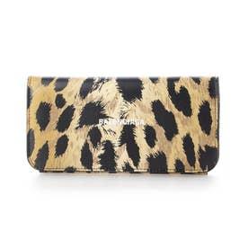 【BALENCIAGA(バレンシアガ)】二つ折り財布 (レオパード)