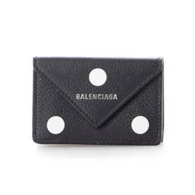 【BALENCIAGA(バレンシアガ)】PAPIER ミニ財布 (ブラックマルチ)