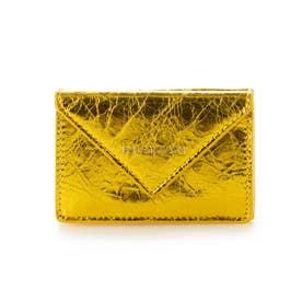 【BALENCIAGA(バレンシアガ)】三つ折り 財布 (ゴールド)