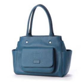 バルコス3wayレザーハンドバッグ (ブルー)