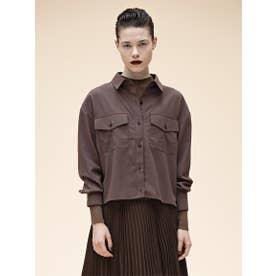 ダブルポケットシャツ (BROWN)