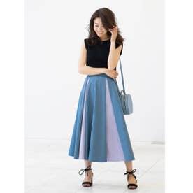 【MAKI KANEKO ×BANNER BARRETTコラボ】配色フレアスカート (BLUE)