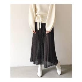 DOTドビーロングスカート (BLACK)