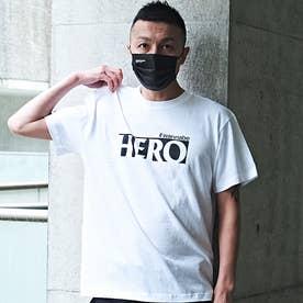 メンズ 半袖 Tシャツ HERO (ホワイト)