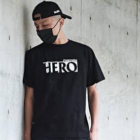 メンズ 半袖 Tシャツ HERO (ブラックW)
