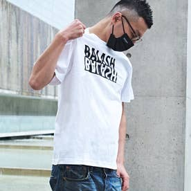 メンズ 半袖 Tシャツ 反転 ロゴ (ホワイト)