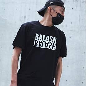 メンズ 半袖 Tシャツ 反転 ロゴ (ブラック)