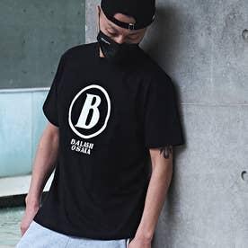 メンズ 半袖 Tシャツ B-OSAKA (ブラックW)
