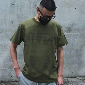 メンズ 半袖 Tシャツ Alphabet (オリーブ)