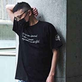 メンズ 半袖 Tシャツ Alphabet (ブラック)