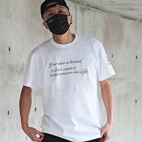 メンズ 半袖 Tシャツ Alphabet (ホワイト)