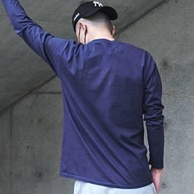 メンズ 長袖 Tシャツ Alphabet (ネイビー)