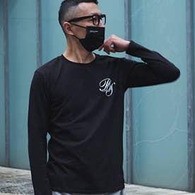 メンズ 長袖 Tシャツ Alphabet (ブラック)